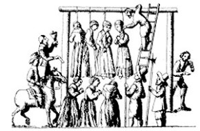 The hangings of the witches of Pendle